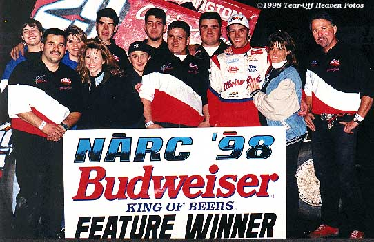 Image: Bud Kaeding and crew at Hanford 3/7/98